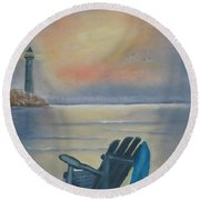 One Is A Lonely Number Round Beach Towel by Kay Novy