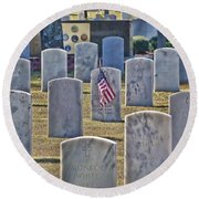 One Lonely Flag Round Beach Towel