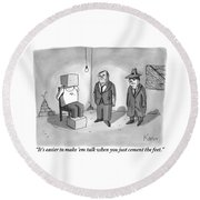 One Mafioso To Another Round Beach Towel by Zachary Kanin