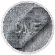 One Round Beach Towel