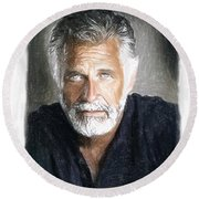 One Of The Most Interesting Man In The World Round Beach Towel by Angela A Stanton