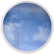 One-on-one With Heaven Round Beach Towel