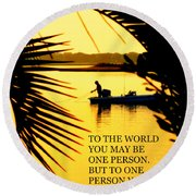 One Person Round Beach Towel
