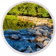 One River - Three Flows Round Beach Towel