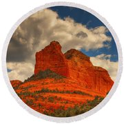 One Sedona Sunset Round Beach Towel