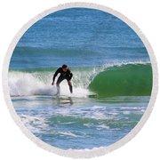 One Surfer Round Beach Towel