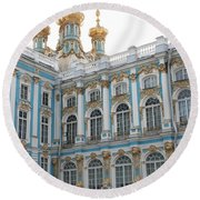 Onion Domes - Katharinen Palace - Russia Round Beach Towel