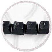 Online Porn Round Beach Towel