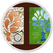 Only As Much As I Dream Series Round Beach Towel