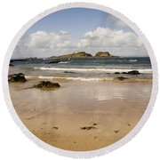 Only Clouds From Skies Round Beach Towel