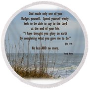 Only One Of Me Round Beach Towel