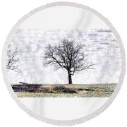 Only The Lonely Round Beach Towel