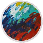Only Till Eternity 1st Panel Round Beach Towel