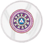 Only You Can Make Yourself Perfect Round Beach Towel