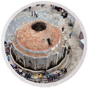Onofrio Fountain In Dubrovnik Round Beach Towel