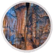 Onondaga Cave Detail Img 4270 Round Beach Towel