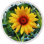 Onyx Store Sunflower Round Beach Towel