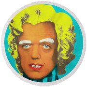 Oompa Loompa Blonde Round Beach Towel