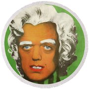 Oompa Loompa White  Round Beach Towel
