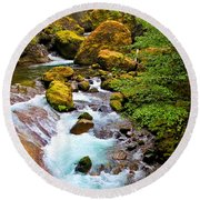 Opal Rivers Round Beach Towel