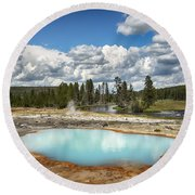 Opalescence Round Beach Towel
