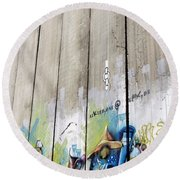 Open A Door Round Beach Towel