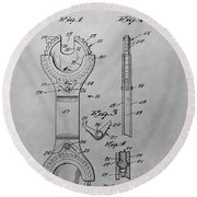 Open End Ratchet Wrench Round Beach Towel