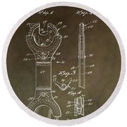 Open End Ratchet Wrench Patent Round Beach Towel