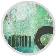 Open Gate- Contemporary Abstract Painting Round Beach Towel