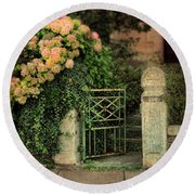 Open Gate Round Beach Towel