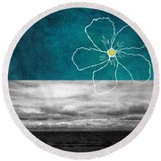 Open Spaces Round Beach Towel by Linda Woods