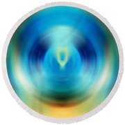 Open Spirit - Energy Art By Sharon Cummings Round Beach Towel