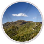 Open View 2 Of The Great Wall Mutianyu Section 603 Round Beach Towel