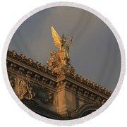 Opera Garnier In Paris France Round Beach Towel