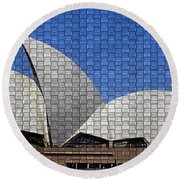 Opera House 4 Round Beach Towel
