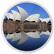 Opera House 6 Round Beach Towel