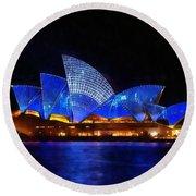 Opera House Sydney Australia Round Beach Towel