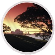 Opera Tree Round Beach Towel