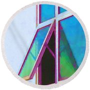 Window Of Opportunity  Round Beach Towel