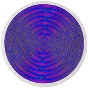 Opposing Forces Round Beach Towel