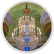 The Beauty Of St. Catherine's Palace Round Beach Towel
