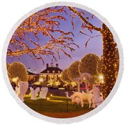 Opryland Hotel Christmas Round Beach Towel