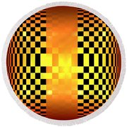 Optical Illusion Round Beach Towel
