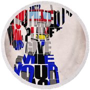 Optimus Prime Round Beach Towel
