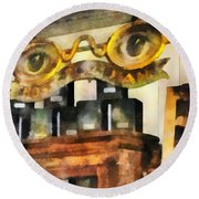 Optometrist - Spectacles Shop Round Beach Towel