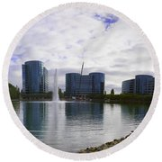 Oracle Buildings In Redwood City Ca Round Beach Towel