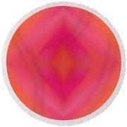 Orange And Raspberry Sorbet Abstract 5 Round Beach Towel