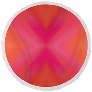 Orange And Raspberry Sorbet Abstract 6 Round Beach Towel