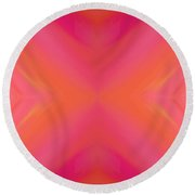 Orange And Raspberry Sorbet Abstract 8 Round Beach Towel