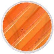 Orange Bolt Round Beach Towel